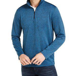 Calvin Klein Men's Space Dyed Quarter-Zip Sweater